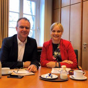 Landrat Detlev Kohlmeier und Marja-Liisa Völlers, MdB