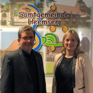 Bürgermeister Koop und Bundestagsabgeordnete Völlers