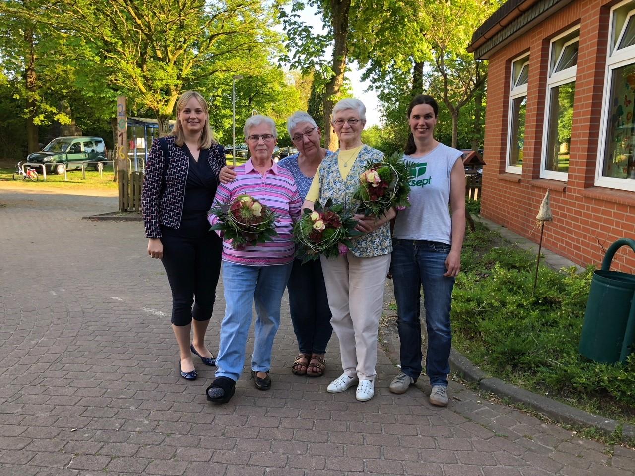 Marja-Liisa Völlers, Frieda Küfe, Jutta Witte, Hannah Lesemann, Sabine Kessner-Graue